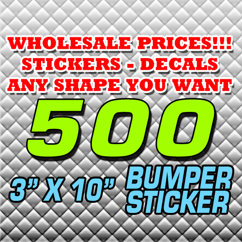 500 BUMPER STICKER 3X10