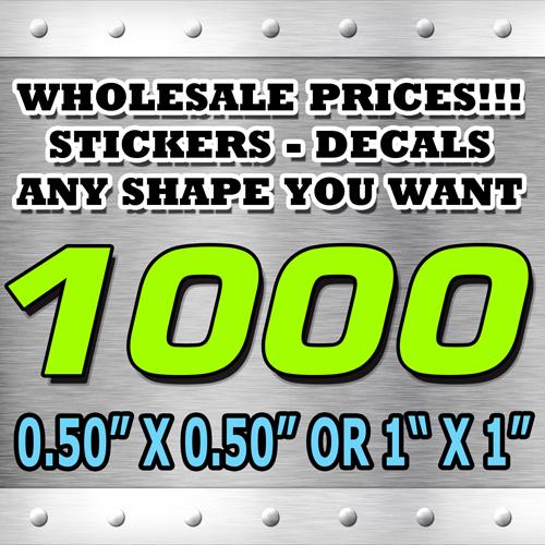1000 STICKERS 050X050 OR 1X1
