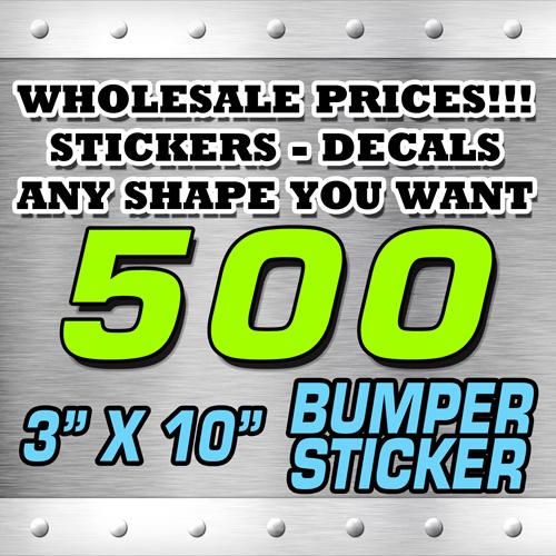 500 BUMPER STICKER 3X10 copy