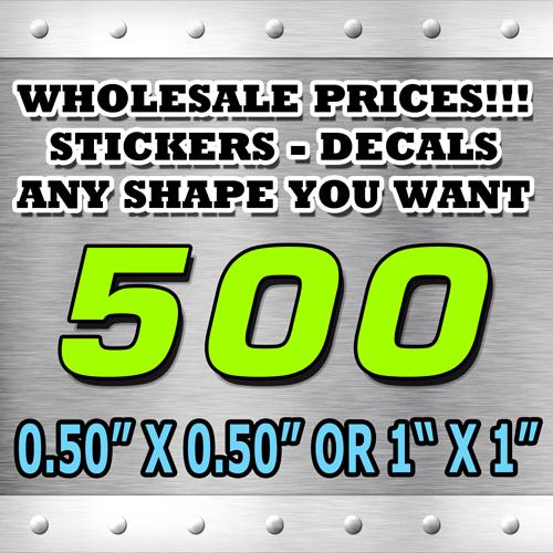 500 STICKERS 050X050 OR 1X1