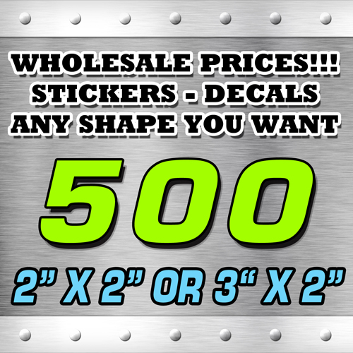 500 STICKERS 2X2 OR 3X2