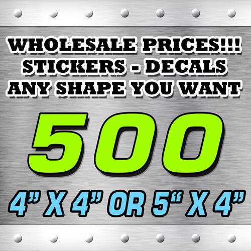 500 STICKERS 4X4 OR 5X4